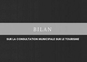 Bilan sur la consultation municipale sur le tourisme