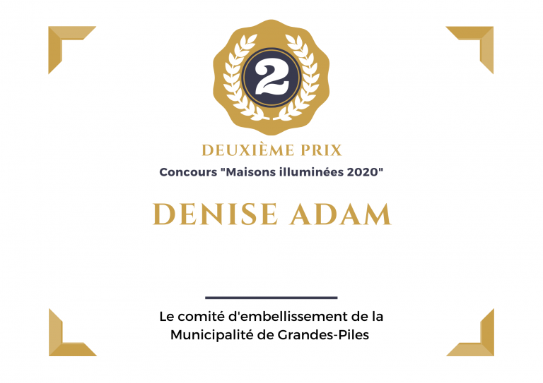 2e prix, Madame Denise Adam